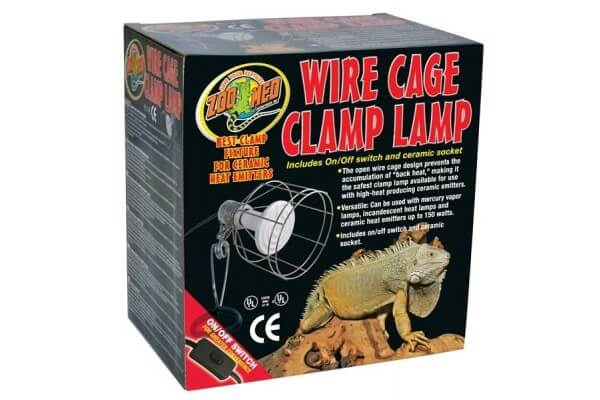 "Clamp Lamp, Support ""cage"" pour ampoule"