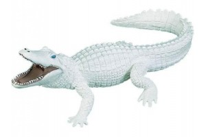 Figurine Alligator Blanc - Small