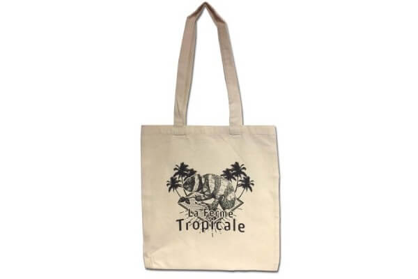 Tote bag La Ferme Tropicale - logo caméléon